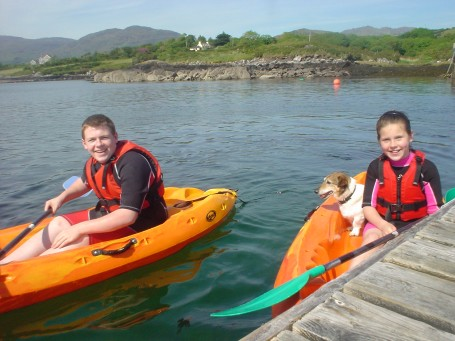 Single Kayaks and Barnie the dog