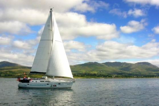 Jessy under sail in Bantry Bay