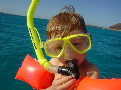 Ready to snorkle Dad