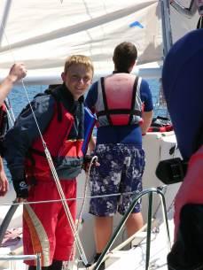 Teenage sailing